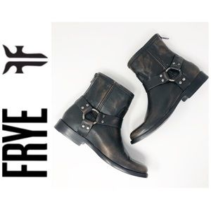 NWT Frye Phillip Harness Leather Bootie Size 6.5